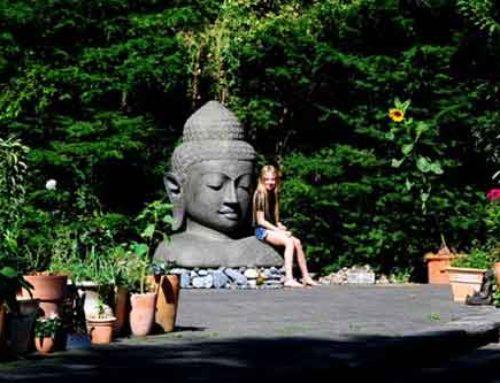 Buddha Kopf Figur Familie heidel