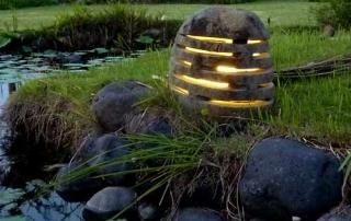Wunderschöne Lichtspielobjekte aus Flusstein
