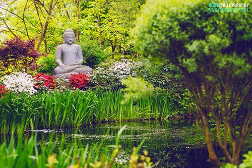 große buddha figur für den garten