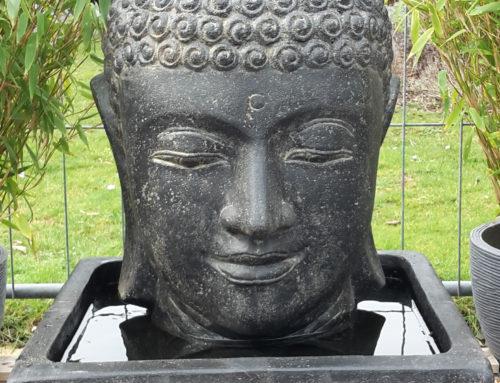 Buddha Brunnen komplett Set mit 55cm Kopf