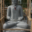 Flussstein Buddha 200 cm hoch