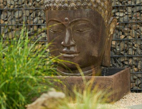 Buddha Brunnen komplett Set mit 125 cm Kopf