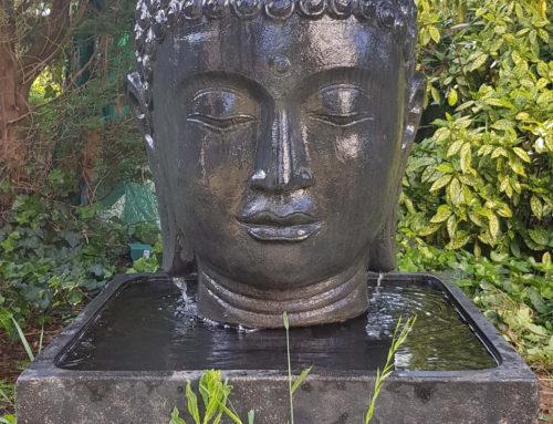 Buddha Brunnen komplett Set mit 100cm Buddha Kopf