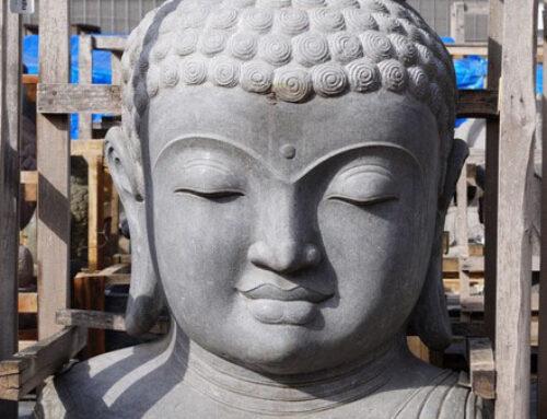 Beindruckend und schön – Buddha Büste 140 cm hoch